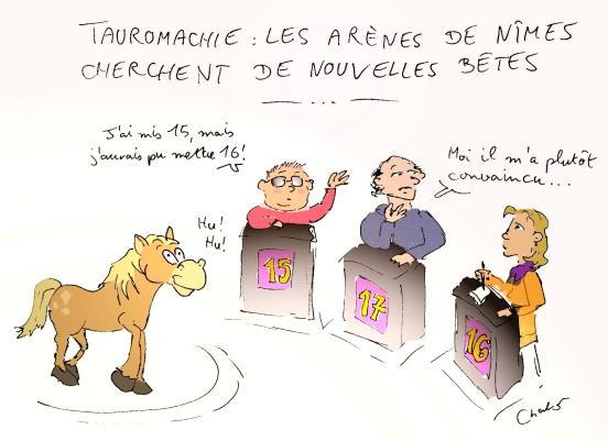 cheval taureau jury télé-crochet